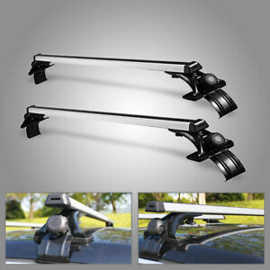 "48"" Universal Roof Rack Cross Bar Luggage Carrier Aluminum w/ 3 Kinds Clamp"