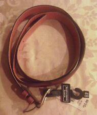 Mens Alexander Lloyd BROWN GENUINE LEATHER BELT~size 48 NEW NWT $23