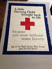 WW1 POSTER RED CROSS