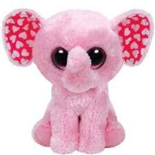"Ty Valentine's Day Beanie Boos 6"" Sugar the Pink Elephant Plush"