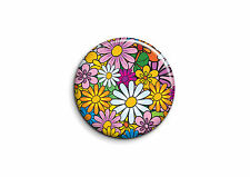 Peace and Love - Fleurs 1 - Badge 25mm Button Pin