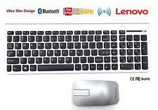 IBM Lenovo Desktop PC Computer Wireless Keyboard & Mouse Set Slim Kit UK English