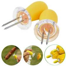 Safety Convenient Corn on the Cob Holders Skewers Needle Prongs For BBQ Barbecue