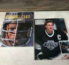 Vintage Beckett Magazine Price Guide 1989 Bo Jackson + 1990 Gretzky + Protectors