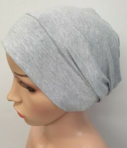 S size light grey chemo treatment hair loss hat cotton cancer hat chemotherapy