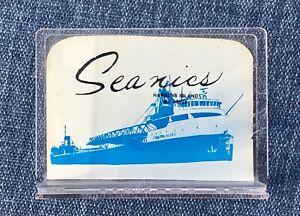 HARSENS ISLAND vintage acrylic Napkin Holders J Burton Ayers / Passenger Steamer