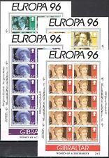 Gibraltar vellen 755-758 Europa CEPT 1996 Beroemde vrouwen cat waarde € 60