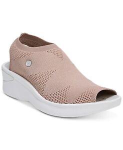 Bzees Women's Secret Slip-on Slingback Platform Wedge Sandal, Mauve WIDE