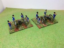 1/72 Napoleonic British Artillery x2 Esci New. Well painted and based