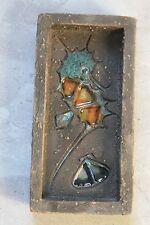 Céramique Années 50 : Petit plat Brut signé émaillé d'une hippocampe