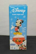 "Disney Bubble Night Light Mickey Mouse Christmas 7"" High Glitter Christmas"