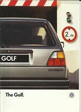 VW VOLKSWAGEN GOLF C, CL, GL, C DIESEL/CL TURBO DIESEL SALES BROCHURE 1986 1987