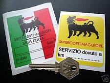 Supercortemaggiore cambio de aceite, servicio de recordatorio adhesivos para coches Ferrari Lancia Alfa