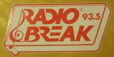 VECCHIO ADESIVO - RADIO BREAK - ANNI 80 (CC2)