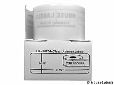 10 Rolls of 130 Lightly Frosted Address Labels For DYMO® LabelWriters® 30254