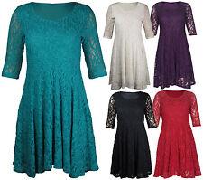 Plus Size Above Knee, Mini Skater Dresses for Women