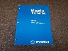 2006 Mazda Tribute SUV Electrical Wiring Diagram Manual I S 2.3L 3.0L V6