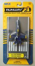 Usn Blue Angels F/A 18A Hornet Runway 24 Mini Airplane Aircraft Daron Toys
