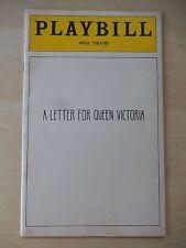 March 1975 - ANTA Theatre Playbill - A Letter For Queen Victoria - Sheryl Sutton