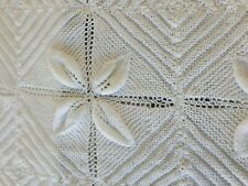 Stunning Hand Knitted White Baby Shawl/Blanket NEW