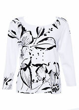 Cotton Floral Plus Size Basic T-Shirts for Women