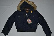 AUTHENTIC PARAJUMPERS GOBI ECO BOYS HOODED BOMBER NAVY YOUTH SMALL BRAND NEW