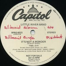 LITTLE RIVER BAND It's Not A Wonder (1980 U.S. 2 Track White Label Promo 12inch)