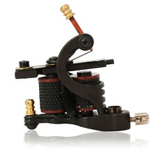 New Handmade Iron Frame 8 Wrap Coils Tattoo Machine Gun for Liner Black Color US