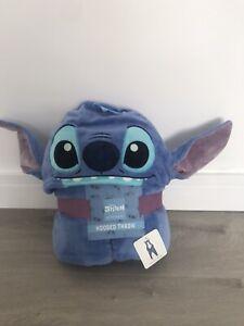 Disney Lilo STITCH Hooded Throw Fleece Blanket cosy 3D Ears Poncho BNWT Primark