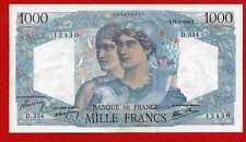 (Ref: D.334) 1000 FRANCS MINERVE ET HERCULE 12/09/1946 (SPL+) RARE
