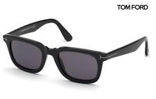 Tom Ford Sunglasses TF817-N Dario 01A Black / Smoke Grey RRP-£250