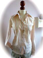 GANT Woman ✿Luxus Langarm Stretch Bluse Shirt beige weiß apricot M 38 40 12 NEUw