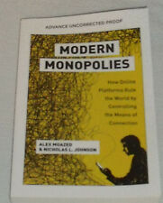 Modern Monopolies Book by Alex Moazed PAPERBACK Advance Uncorrected Proof