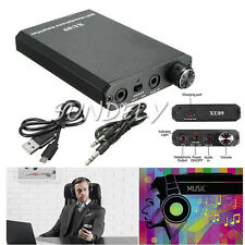 Portable Audio HIFI Headphone Amplifier Earphone AMP with Audio / USB Cable - AU