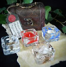 ELEMENT OFFERING BOWLS & CHEST Wicca Altar Earth Air Fire Water Gift
