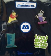 Disney Pixar Monsters Inc 4 Pin 2014 Booster Collection- pin# 102940