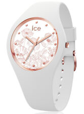 ICE WATCH 016669 ICE flower Spring white Medium, Silikon weiß neu
