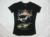 Death By Zero Mens T Shirt Size M Black Round Neck Amor Short Sleeve