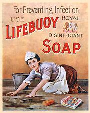 Lifebuoy Soap4 Vintage Advertising Art Print / Poster
