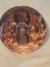 "Franklin Mint Heirloom Royal Doulton Fine Bone China, 8"" Plate Dragon Fire Euc"