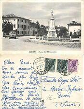 Chions Piazza del monumento viaggiata anni 50 animata auto epoca (L-L030)