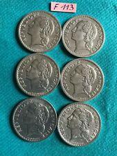 France - Lavrillier : Lot de 6 x 5 francs  1945/46/47/48/49/50  GRANDE QUALITE