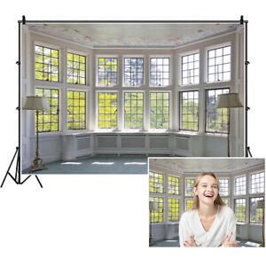 3x2ft Modern Indoor Hall Window Photography Backgrounds Seamless Photo Backdrops
