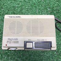 Vintage Realistic Plug'n Talk FM Wireless Intercom Model 43-207B TESTED WORKING