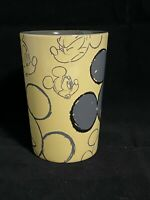 Disney Store Mickey Mouse Drawings On A Yellow Gray Ceramic Coffee Mug 16 Oz