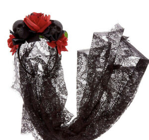 Claire's Day of the Dead Veil Headband New with Tags