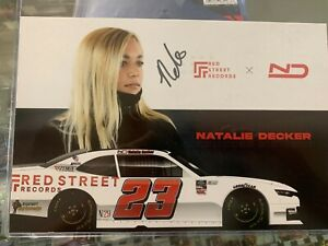 Natalie Decker Autographed 2021 Postcard Herocard Signed Nascar Auto Rare