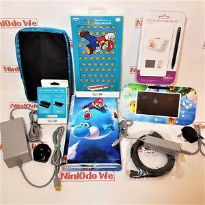 Nintendo Wii U Console 8GB - Used, refurbished with Mario wrap + Accessories
