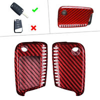 Carbon Fiber Remote Key Shell Cover  For 2015-up VW MK7 Golf GTI Jetta Red cl