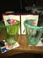 Kosta Boda Swirl Art Glass MINE Tumbler By Ulrica Hydman Vallien Set Of 2 New
